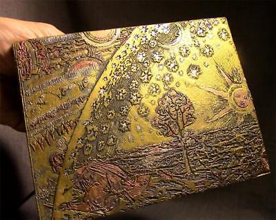FLAMMARION WOODCUT stone etching of famous Medieval design ancient replica