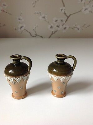Pair of Royal Doulton Miniature Vases