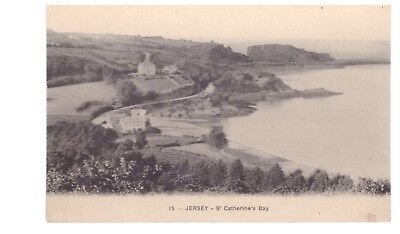 1920s St. Catherine's Bay, Jersey, postcard unposted