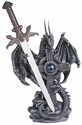 Dragon Collection Steel Sword Fantasy Figurine Statue Polyresin Home Decor Gift