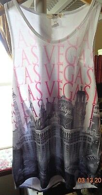 Las Vegas Souvenir Sleeveless Tank Top Womens Large Nwot + Bonus