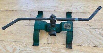 vintage BUCKNER 101 rotary sprinker - great green paint - spins great - item no.