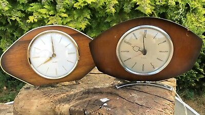 Vintage Retro Westclox Electric and Wind Up Mantle Clock - Made in Scotland *
