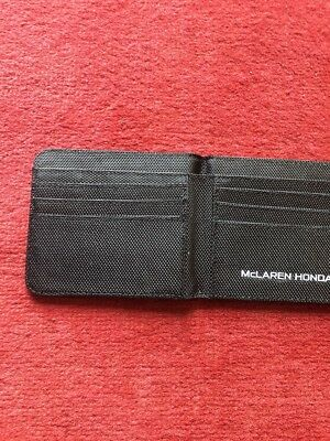 McLaren Honda Formula 1 Official team Wallet & Card Holder Black Woven BNWT