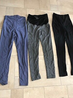 Two Pairs of Maternity Skinny Trousers and One Leggings Bundle Size S