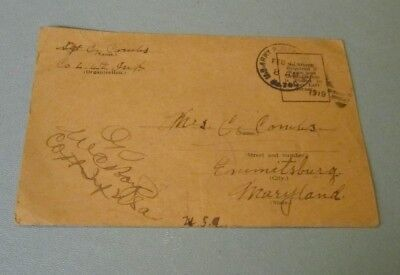 1919 US Army Sergeant 3rd Division 4th Infantry Friesenheim Germany Posting Card
