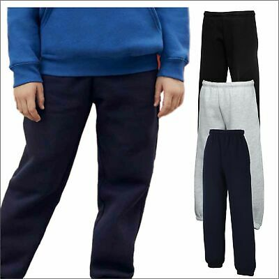 Fruit of the Loom Kids Premium Jog Pants Elasticated Cuff Casual Jogging Bottoms