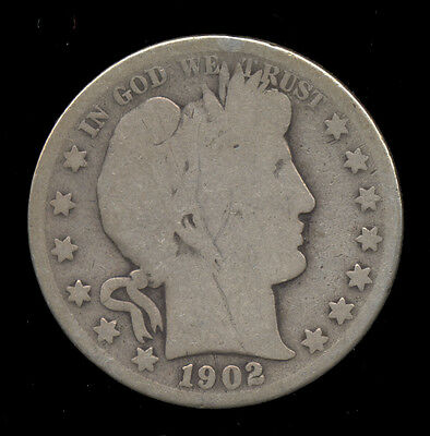 1902-O ... Better Date ... Barber Half Dollar (675-208)  FREE SHIPPING