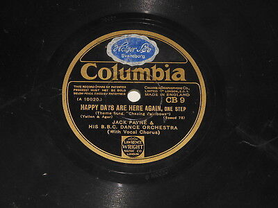 "Jack Payne & BBC Dance Orchestra - 10"" Schellack (78 RPM) - Happy Days Are Here"