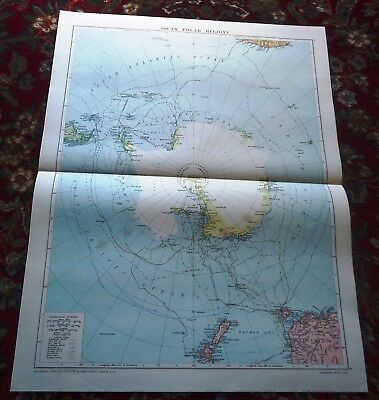 Large VICTORY Map ~ NORTH POLAR REGION #2 ~ Alexander Gross Geographical 1919/20