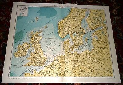 Large VICTORY Map NORTH POLAR & BALTIC SEAS Alexander Gross Geographical 1919/20