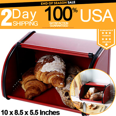 Juvale Bread Box For Kitchen Counter Stainless Steel Bread Bin Storage Container