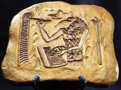 THOTH THE SCRIBE Egyptian 21st Dynasty 1075 BC bas-relief ancient reproduction