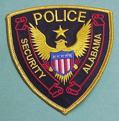 Alabama  Police / Security  Al  Police Patch   Free Shipping!!!