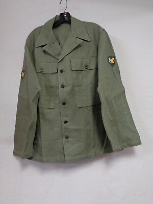 US ARMY HBT Combat Jacket/Shirt with 13 Star Metal Buttons