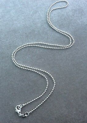 2Mm 925  Silver  Ball Bead Chain Necklace All Inch Sizes Pendant Uk *Huge *Sale*