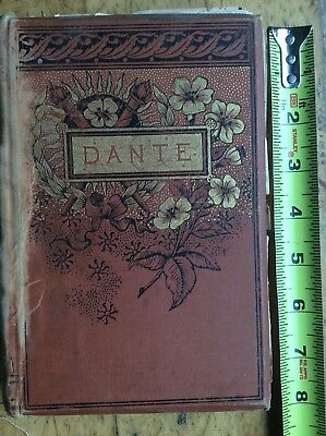 Book Antique Very Old Original Life Of Dante Probably From The 1800's
