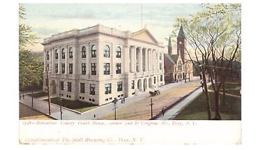 Rensselaer County Court Troy NY Compliments Stoll Brewing Co 1920s Postcard