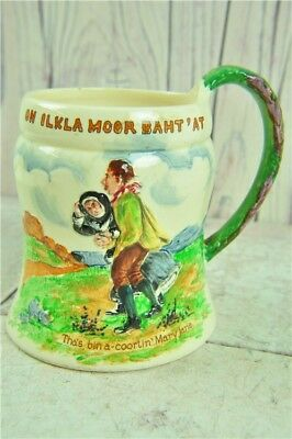 Crown Devon Ilkley Moor Musical Mug Pottery Painted Illustration Made In England