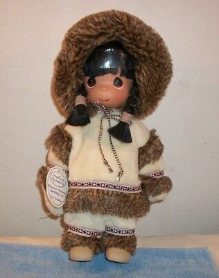 """Precious Moments You Warm My Heart 13"""" Eskimo / Indian Dressed Girl Doll"""