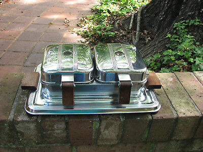 VINTAGE RETRO MANNING BOWMAN DOUBLE CHROME WAFFLE IRON Twin O Matic