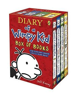 Diary of a Wimpy Kid Box of Books by Jeff Kinney New Paperback Book