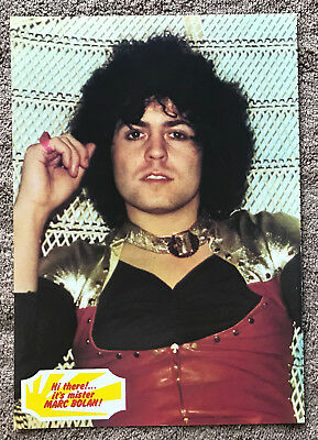 MARC BOLAN - 1975 full page UK magazine annual poster T. REX