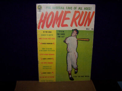 Home Run1953 No.3 Stan The Man Musial Cover  Sports Comic