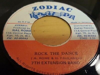 "7Th Extension Band - Rock The Dance 7"" Vinyl Zodiac 1981 Reggae"