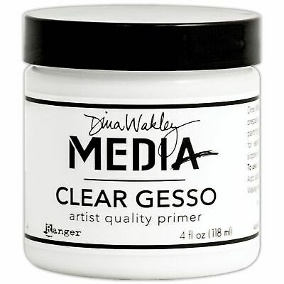 Gesso 4Oz Jar - Clear - Dina Wakley Media