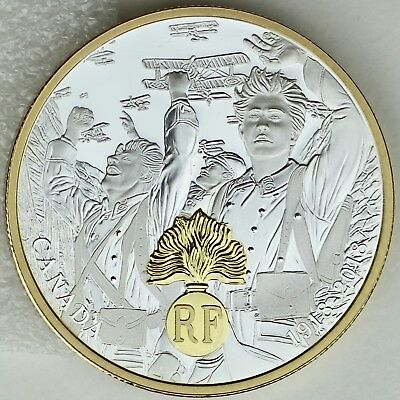 Canada 2018 $20 First World War Allies: France, 1 oz. Pure Silver Proof Coin