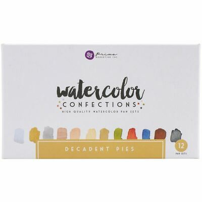 Watercolor Confections Watercolor Pans 12/Pkg - Decadent Pies - Prima Marketing
