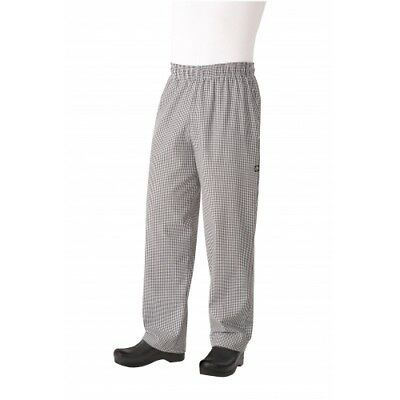 """(2)Chef Works NBCP-000-5XL Checkered Baggy Essential Cook Pants """"5XL"""" Men/womens"""