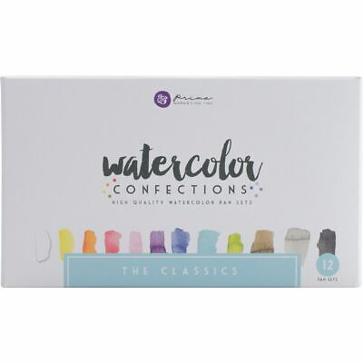 Prima Watercolor Confections Watercolor Pans 12/Pkg-The Classics -584252