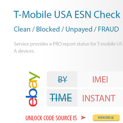 T-Mobile Usa Clean/blocked/unpayed/fraud Imei Status Check Service