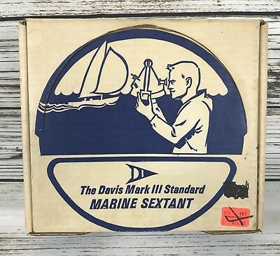 Vintage The Davis Mark III Standard Marine Sextant in original box