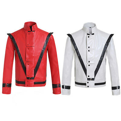 89ce307a2eb Michael Jackson Thriller Jackets For Custome And for Admires Red Whaite  Color