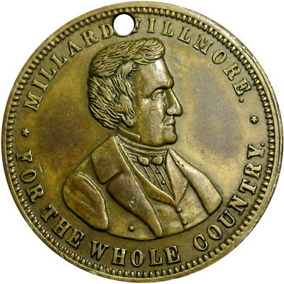 1856 Millard Fillmore Political Token For The Whole Country Know Nothing Party