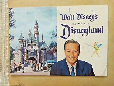 "DISNEYLAND SET:1959 ""WALT DISNEY's GUIDE BOOKLET+ Ticket Book Vintage 1960's"