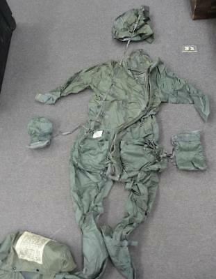 USAF CWU-16/P ANTI-EXPOSURE COVERALL WITH CARRYING BAG - 1980s #EQ858