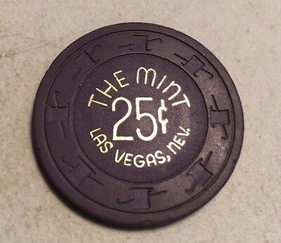 The Mint $.25 Casino Chip Las Vegas Nevada 2.99 Shipping