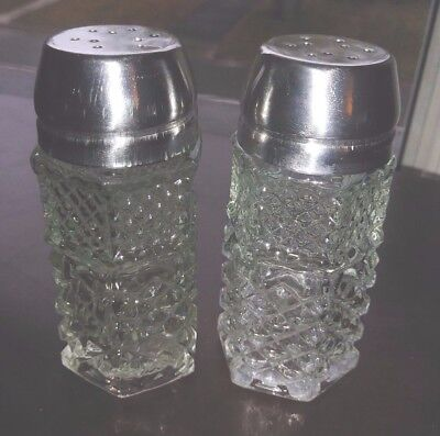 Crystal Salt And Pepper Shakers