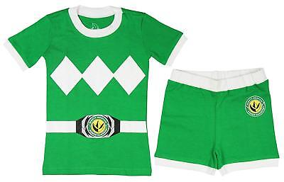 Power Rangers Toddler Boys' Mighty Morphin Pajama Short Set, Green, 5T