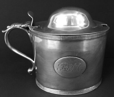 Rare Sterling Silver Georgian Mustard Pot, London, W. Bottle & J. Willsher -1798