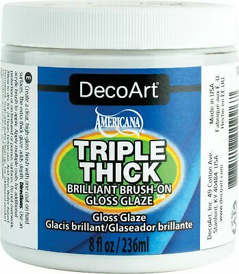 Triple Thick Brilliant Brush - On Gloss Glaze 8Oz - Deco Art
