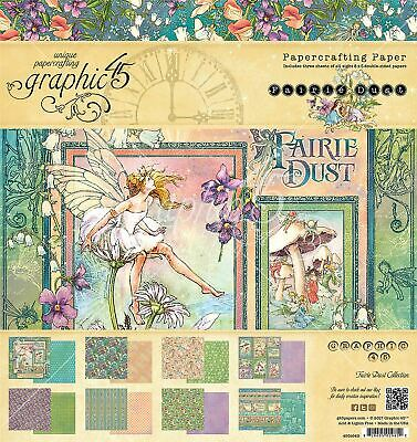 Double - Sided Paper Pad 8 inch x 8 inch 24/Pkg - Fairie Dust - Graphic 45