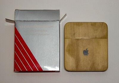APPLE INC Company Store Colored Pencil Set NEW in Wood Container with Sharpener