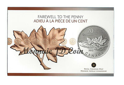 "Canada 2012 20$ For 20$ Series ""Farewell To The Penny"" - Fine Silver Tax Exempt"