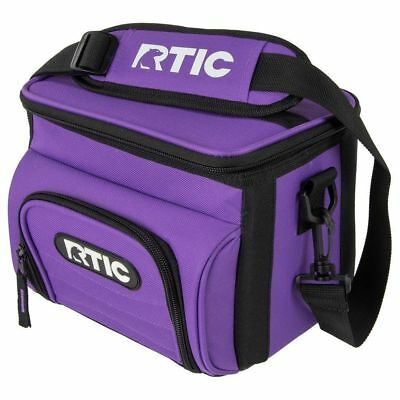 RTIC 6 Can Day Cooler Purple New Lunchbox Soft Pack 24 Hours Cold Lunch Box