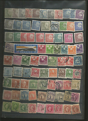 LARGE SWEDEN USED STAMP COLLECTION (12 scans)